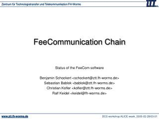 FeeCommunication Chain