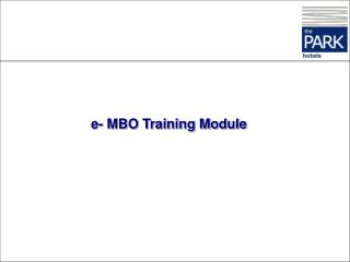 e- MBO Training Module