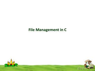 File Management in C