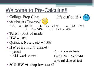 Welcome to Pre-Calculus!!