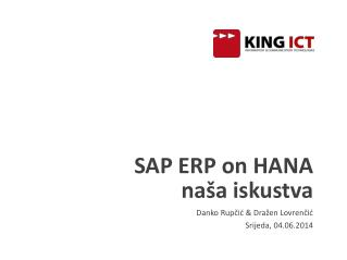 SAP ERP on HANA  naša iskustva
