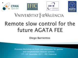 Remote slow  control  for the future  AGATA FEE