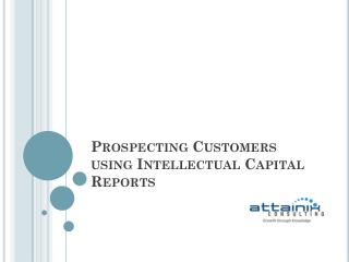 Prospecting Customers using Intellectual Capital Reports