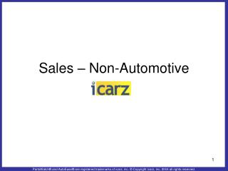 Sales – Non-Automotive