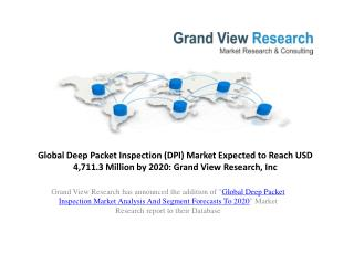 Deep Packet Inspection Market Segment to 2020