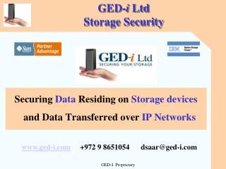 GED- i  Ltd Storage Security