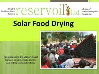 Solar Food Drying