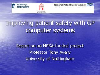 Improving patient safety with GP computer systems