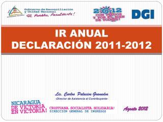IR ANUAL DECLARACIÓN 2011-2012