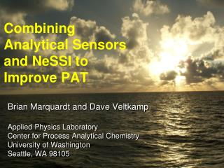 Combining Analytical Sensors and NeSSI to Improve PAT