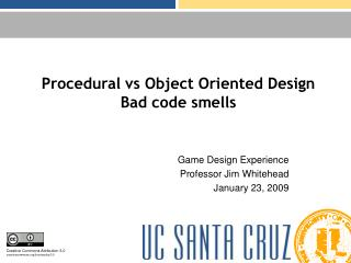 Procedural vs Object Oriented Design Bad code smells