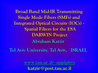 Broad Band Mid-IR Transmitting