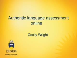 Authentic language assessment online