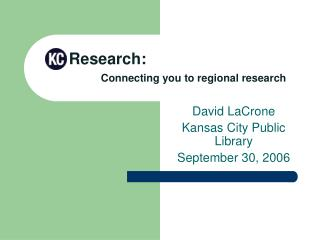 Research:  Connecting you to regional research