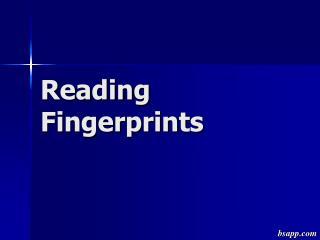 Reading Fingerprints