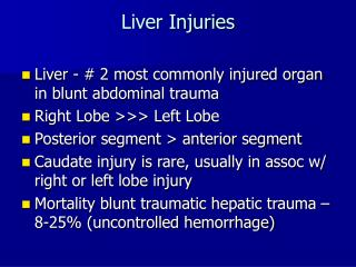 Liver Injuries