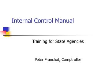 Internal Control Manual