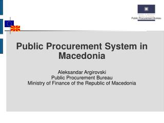 Public Procurement System in Macedonia
