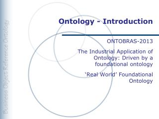Ontology - Introduction