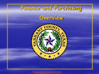 Finance and Purchasing  Overview