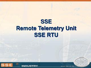 SSE Remote Telemetry Unit SSE RTU