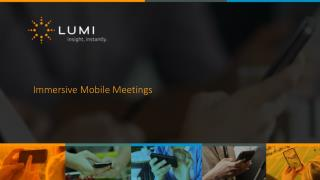 Immersive Mobile Meetings