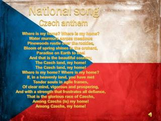 National  song Czech  anthem