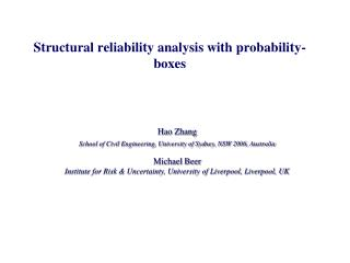 Structural reliability analysis with probability-boxes