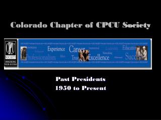 Colorado Chapter of CPCU Society