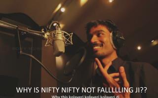 WHY IS NIFTY  NIFTY  NOT FALLLLLING JI??