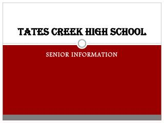 TATES CREEK HIGH SCHOOL