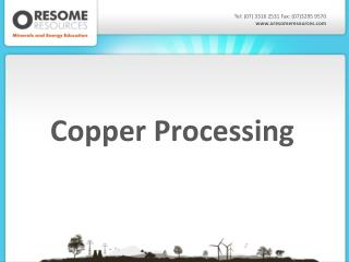 Copper Processing