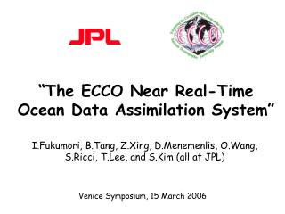 """The ECCO Near Real-Time Ocean Data Assimilation System"""