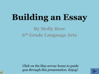 Building an Essay