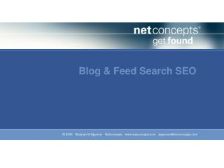 Blog & Feed Search SEO