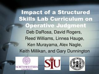 Impact of a Structured Skills Lab Curriculum on Operative Judgment