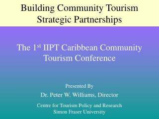 Building Community Tourism Strategic Partnerships