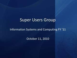 Super Users Group