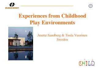 Experiences from Childhood Play Environments