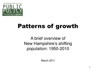 Patterns of growth