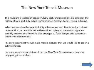 The New York Transit Museum