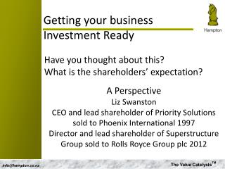 Getting your business  Investment Ready