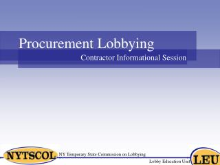 NY Temporary State Commission on Lobbying