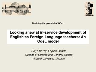 Looking anew at in-service development of English as Foreign Language teachers: An  OdeL  model