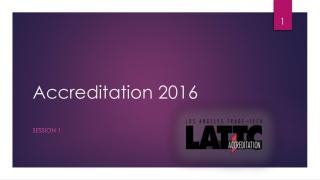 Accreditation 2016