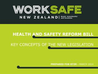 Health and safety reform Bill
