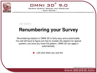 Renumbering your Survey