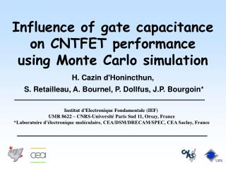 Influence of gate capacitance on CNTFET performance  using Monte Carlo simulation