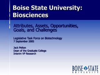 Boise State University:  Biosciences
