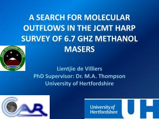 Lientjie  de Villiers PhD Supervisor: Dr. M.A. Thompson University of Hertfordshire